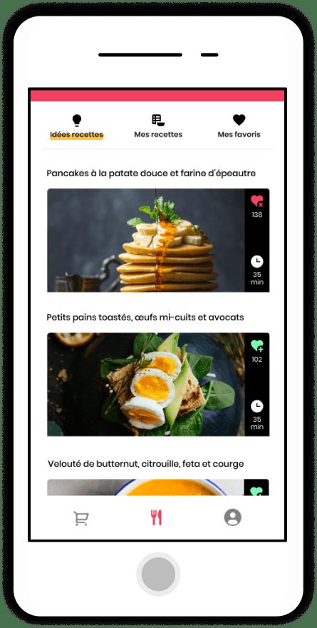 Recette de GoodSesame, app de repas santé