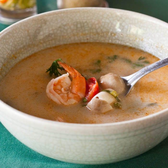 Thai Coconut Milk Soup with Shrimp