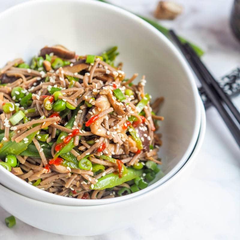 Vegan Soba Noodle Stir Fry with Shiitakes and Sugar Snap ...