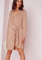 crepe muschroom dress