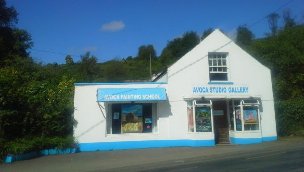Avoca Studio Gallery in the sunshine in the Vale of Avoca, Ireland.