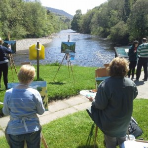 Painting Workshop #5 at the infamous Meeting of the Waters.