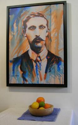 Éamonn Ceannt canvas print with still life