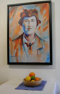 1916 Margaret Skinnider print with still life