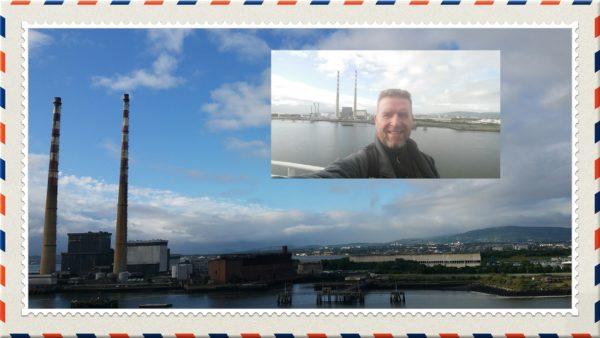 Rod Coyne postcard from Dublin Port.