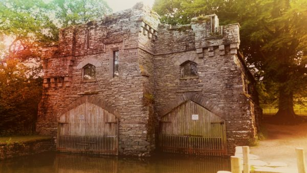 The boat house at Wray Castle.