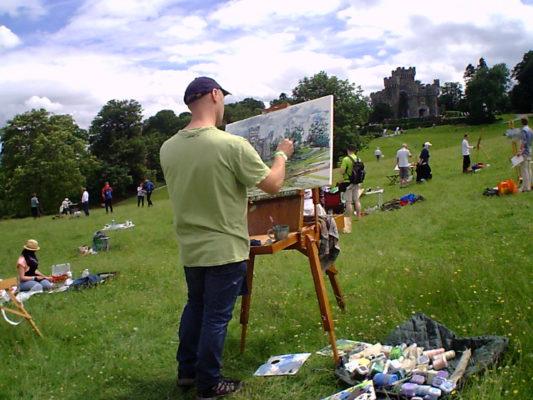 Sky Arts wild card contender paints Wray Castle.
