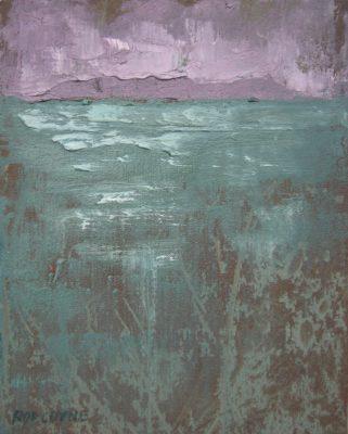 2015 Howth Head from Bulloch Harbour across Dublin Bay, oil on canvas.