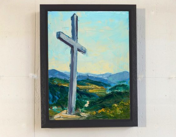 Miners Cross framed canvas print.