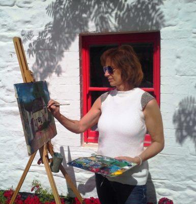 Painting at Avoca Handweavers.