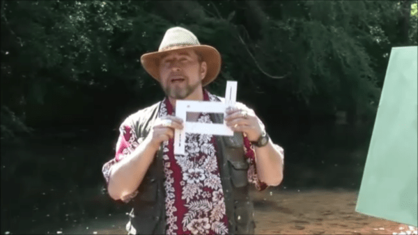 """Rod explaining the view finder during the """"secrets of the Palette Knife"""" DVD."""