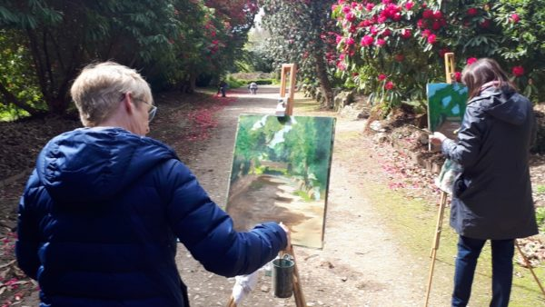 Painters map out the lights-&-darks to create the illusion of space in Kilmacurragh's Botanical Gardens with Rod Coyne.