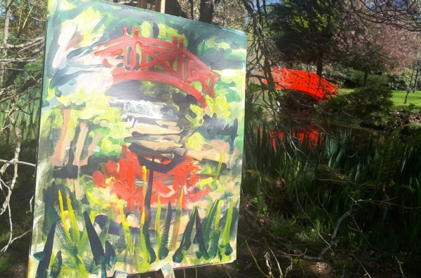 Still wet the painting demo by Rod Coyne at Knockanree Gardens.