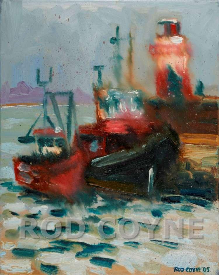 Wicklow Harbour - Canvas Print