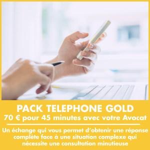 Pack Téléphone Gold : 70 € pour 45 minutes avec votre Avocat