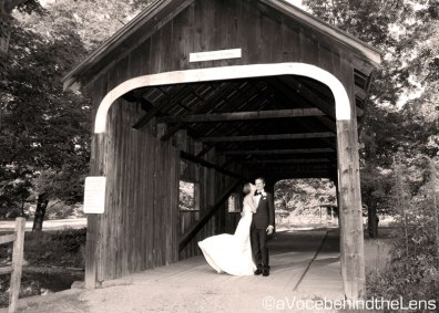 I love covered bridges, and the fact that there was one right in the town was an opportunity not to be missed!