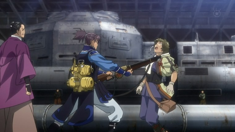 Screenshot from Kabaneri of the Iron Fortress episode 1