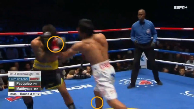 Pacquiao vs. Matthysse: Third Round Knockdown