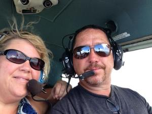 Jeff and I flying