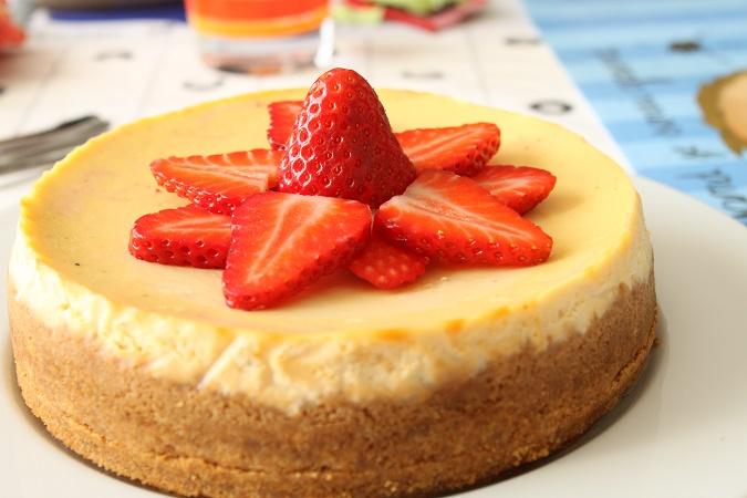 Cheesecake à la vanille fraise