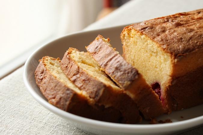 Cake pamplemousse framboise