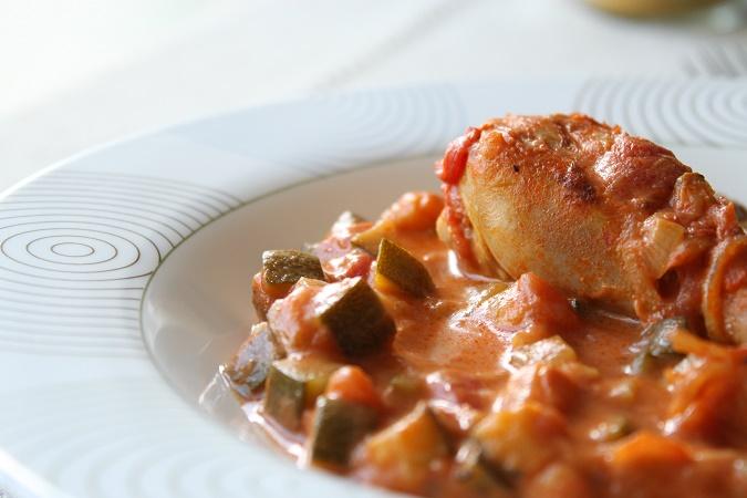 Poulet curry tomate lait de coco