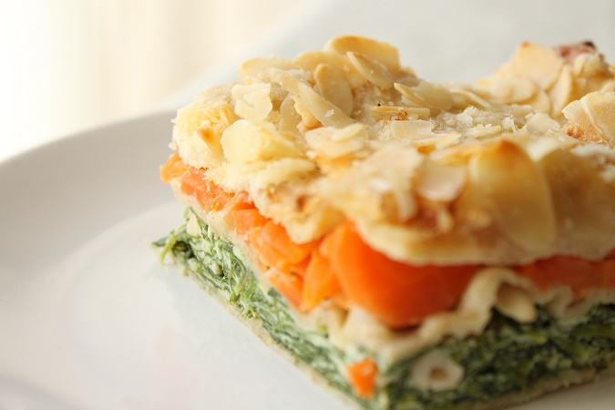 Lasagne carotte epinard