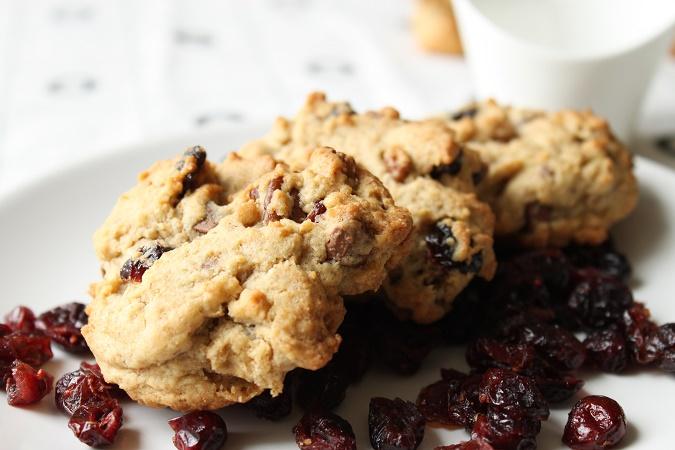 cookie cranberries noix de pécan et chocolat au lait