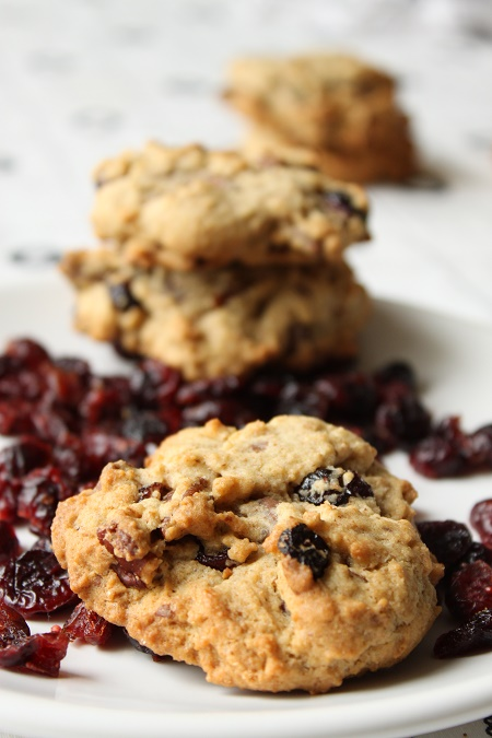 cookie cranberries noix de pécan et chocolat au lait
