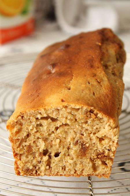 gâteau moelleux à la compote de pomme et speculoos