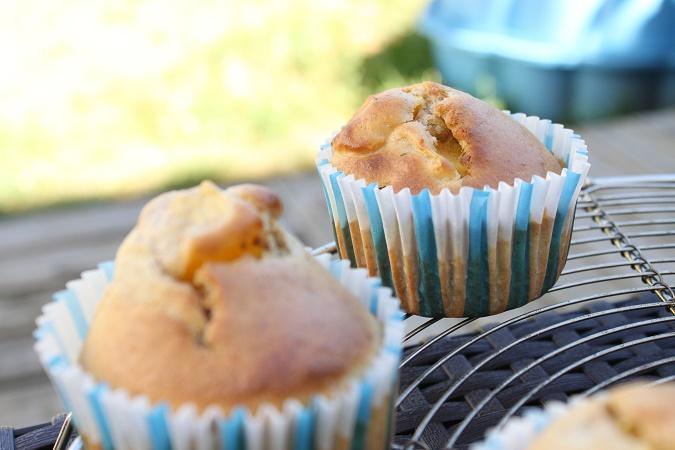Muffins citron nectarine basilic
