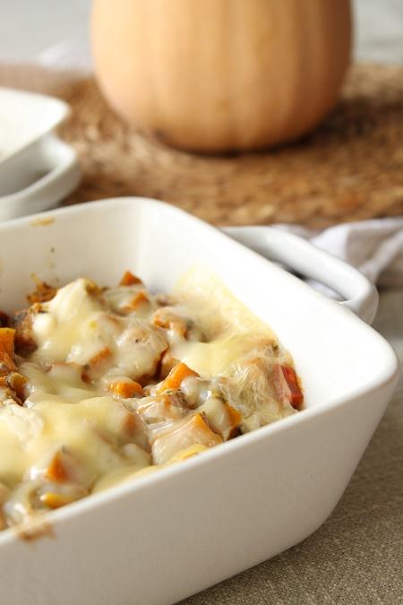 Croziflette au chorizo et à la courge butternut