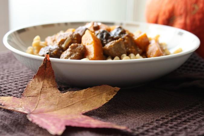 Sauté de porc à la courge butternut épices