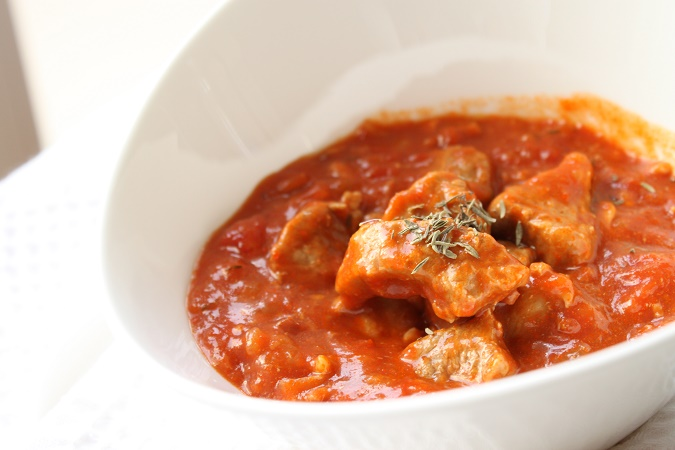 Sauté de porc à la tomate