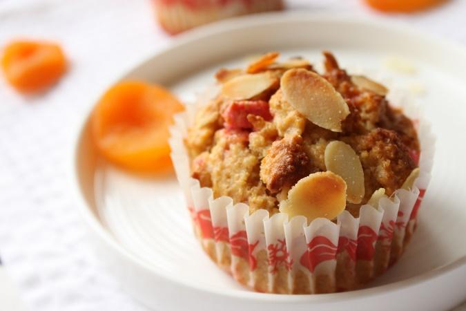 Muffin praline rose abricot