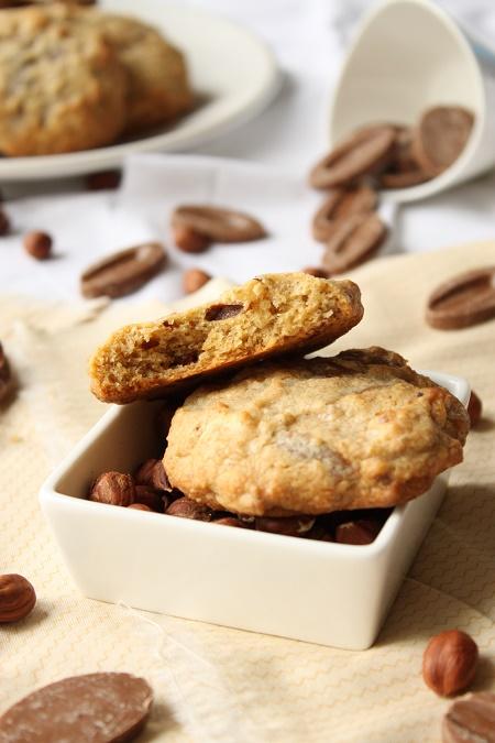 Cookies aux noisettes chocolat blanc et lait/caramel