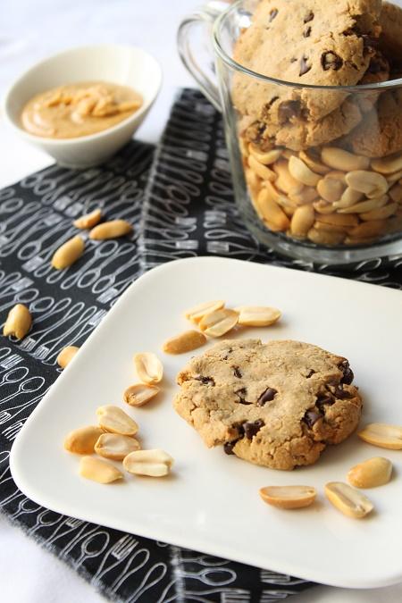 Cookies à la purée de cacahuète chocolat sans oeuf