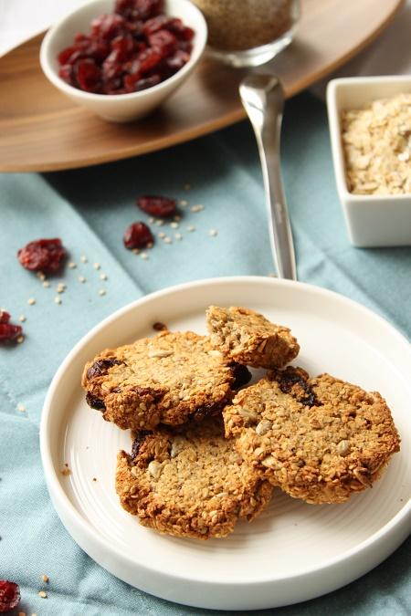 biscuit flocons d'avoine cranberries