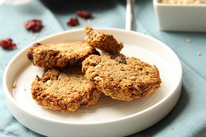 biscuits aux flocons d'avoine cranberries