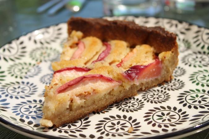 tarte amandine aux nectarines blanches