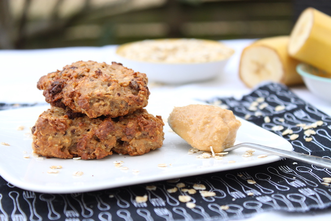 biscuits healthy chocolat banane beurre cacahuète sans beurre sans oeuf