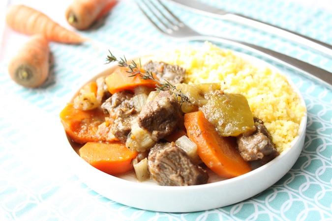 Boeuf aux carottes, blettes et courgettes