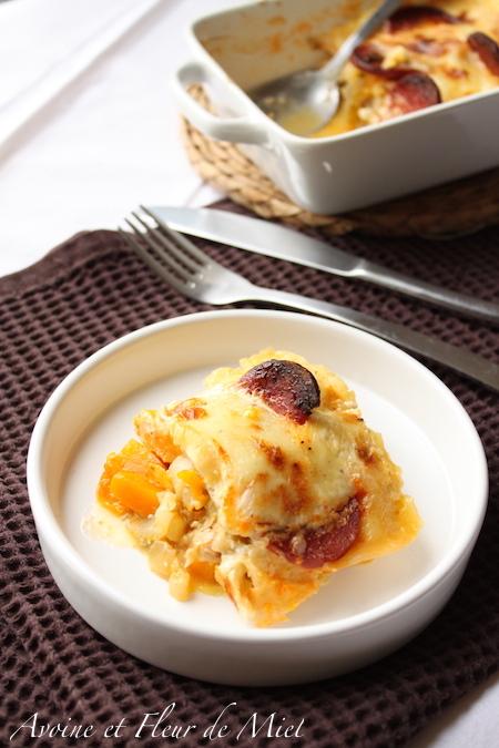 Raclette endives potimarron chorizo