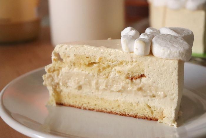 Bavarois vanille cremeux poire madeleine citron