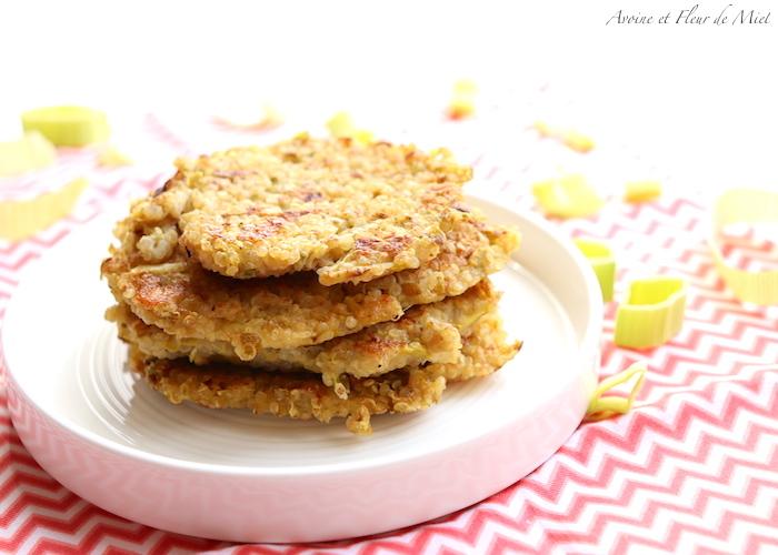 galettes de quinoa et poireaux