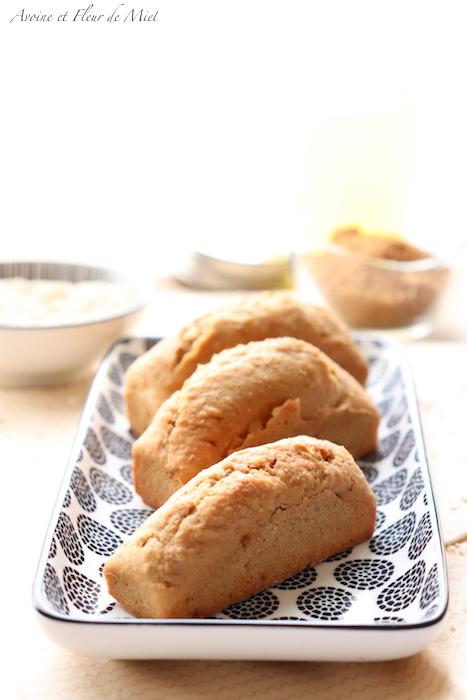 gâteaux à la vanille et sucre de coco