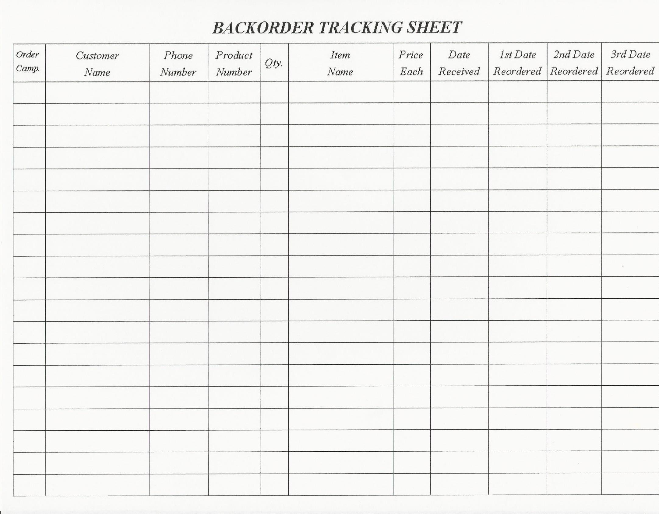 Backorder Tracking Sheet 2 164 1 690 Pixels