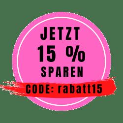 15 Prozent Rabatt Code