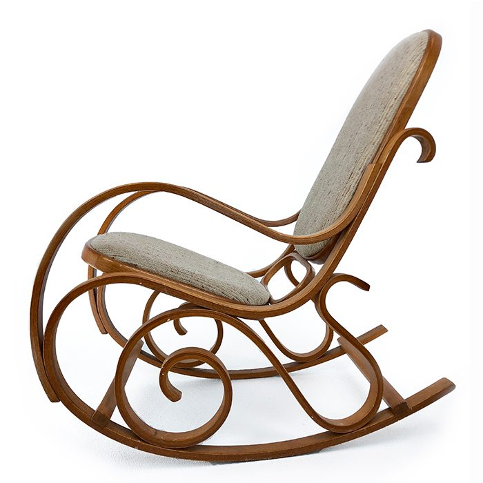 Upholstered Bentwood Rocking Chair  Avonlea Antiques