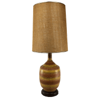 Mid Century Modern Orange/Yellow Ceramic Table Lamp